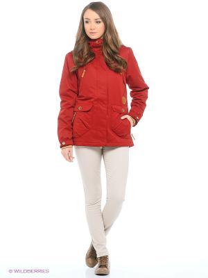 Куртка Guahoo. Цвет: бордовый