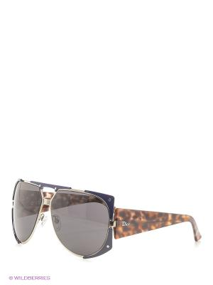 Солнцезащитные очки CHRISTIAN DIOR. Цвет: синий, коричневый