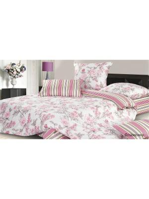 Постельное белье Фламенко ECOTEX. Цвет: розовый