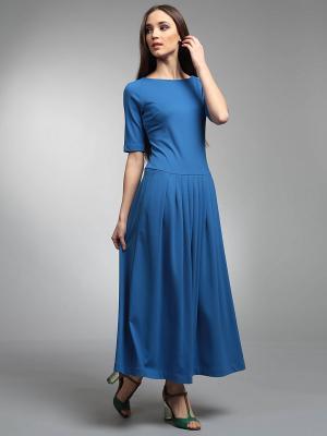 Платье ЭНСО. Цвет: синий