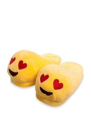 Тапочки Смайлик Любовь Lovely Joy. Цвет: желтый