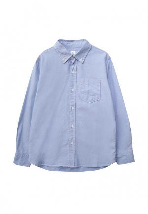 Рубашка Gap. Цвет: голубой