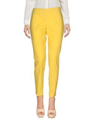 Повседневные брюки MALÌPARMI. Цвет: желтый