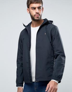 Farah Черная куртка-дождевик с капюшоном Newbern. Цвет: черный