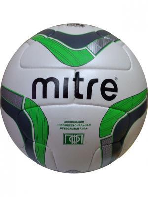 Мяч футбольный MITRE DELTA V12 ПФЛ FIFA Approved. Цвет: белый, черный, зеленый