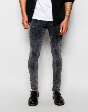 Loyalty & Faith Ультразауженные черные джинсы с эффектом кислотной стирки Fa