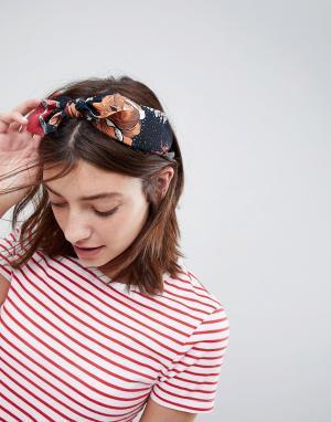 ASOS Повязка на голову ограниченной серии с узелком и принтом пейсли. Цвет: мульти