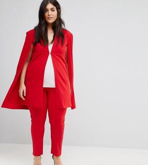 Club L Комбинируемые брюки узкого кроя Plus. Цвет: красный