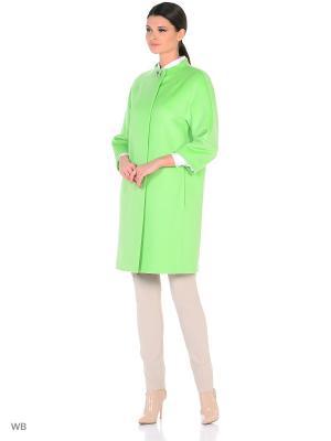 Пальто Lea Vinci. Цвет: салатовый