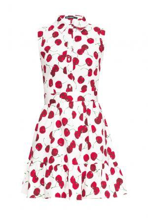 Платье из хлопка с поясом 167847 Paola Morena. Цвет: разноцветный
