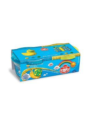 Паста для лепки, 2*100, синяя, желтая FILA. Цвет: синий, красный, желтый