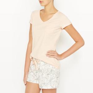Пижама с шортами хлопковая SAFARI SKINY. Цвет: розовый