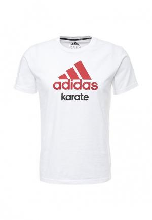 Футболка adidas Combat. Цвет: белый