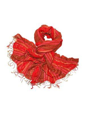 Палантин Ethnica. Цвет: хаки, красный