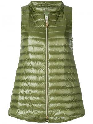 А-образный дутый жилет Herno. Цвет: зелёный