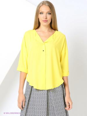 Блузка Love My Body. Цвет: желтый