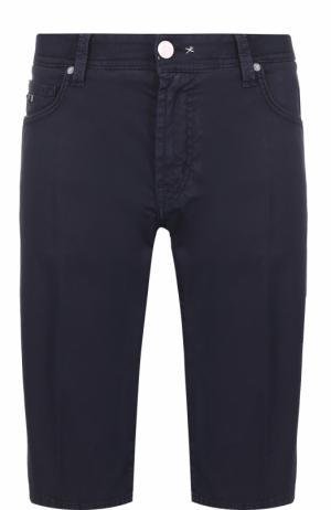 Хлопковые шорты с карманами Sartoria Tramarossa. Цвет: темно-синий