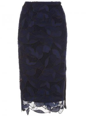 Юбка с цветочной вышивкой Grey Jason Wu. Цвет: синий