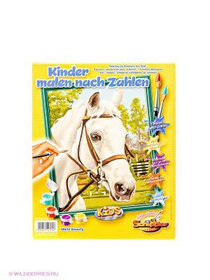 Раскраска по номерам Белая лошадь Schipper. Цвет: белый
