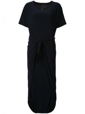 Платье Diaper с короткими рукавами Norma Kamali. Цвет: синий