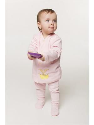 Кофточка ORANGE BABY. Цвет: бледно-розовый, желтый