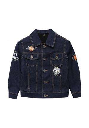 Куртка джинсовая Fleur de Vie. Цвет: синий