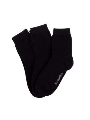 Носки (3 пары) Button Blue. Цвет: черный