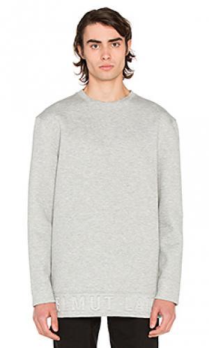 Box fit 3d l/s pullover Helmut Lang. Цвет: серый