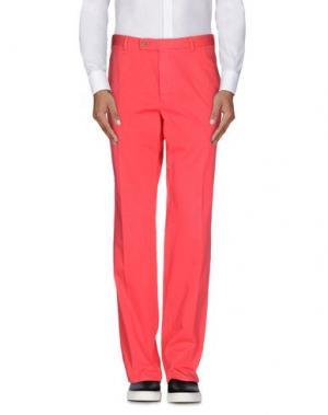 Повседневные брюки FAÇONNABLE. Цвет: коралловый