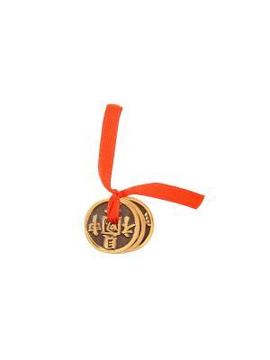 Амулет защитный Монеты Счастья Aztek. Цвет: желтый