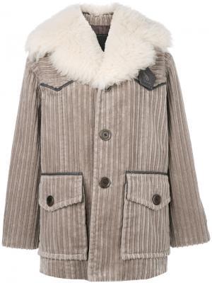 Вельветовое пальто Marc Jacobs. Цвет: коричневый