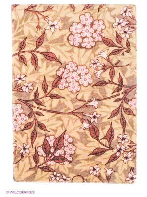 Обложка для паспорта Розовые цветы Mitya Veselkov. Цвет: бежевый, розовый, коричневый