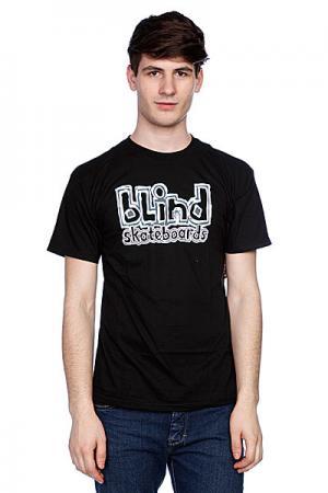Футболка  Skateboards Black Blind. Цвет: черный