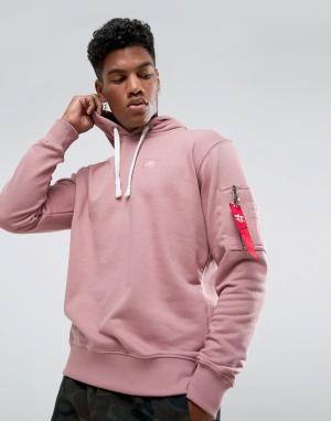 Alpha Industries Розовый худи X-Fit. Цвет: розовый