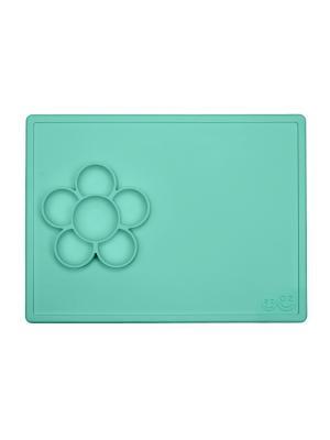 Тарелка с подставкой Ezpz Play Mat Mint. Цвет: бирюзовый
