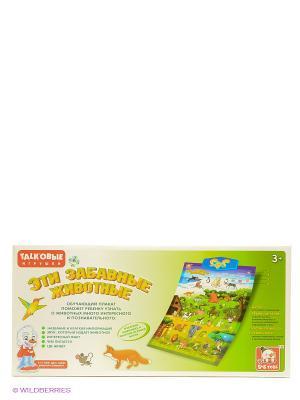 Плакат обучающий Животные S-S. Цвет: зеленый