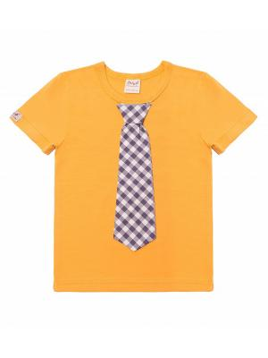 Футболка ЕМАЕ. Цвет: желтый