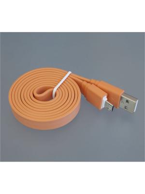 Usb кабель Pro Legend плоский micro Usb, 1м,  оранжевый. Цвет: оранжевый