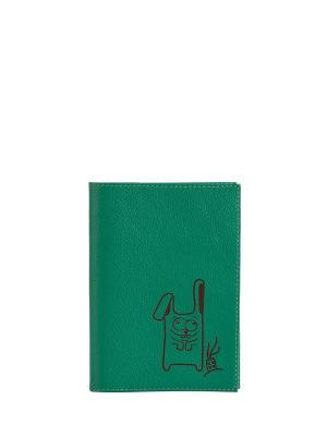 Бумажник водителя FABULA. Цвет: зеленый