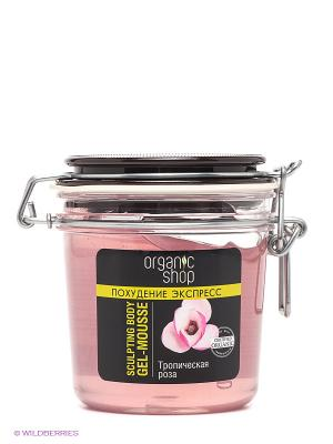 Гель-мусс для тела Тропическая роза Organic Shop. Цвет: бледно-розовый