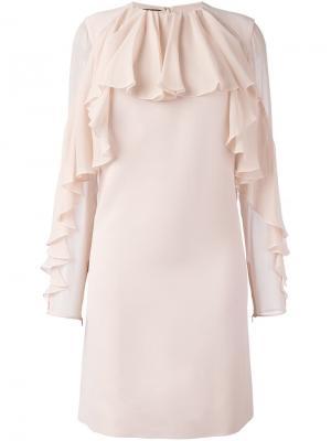 Платье с оборками Giambattista Valli. Цвет: розовый и фиолетовый