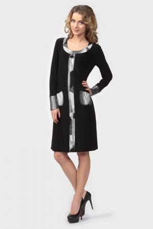 Платье Frank Lyman Design. Цвет: черный, серые вставки