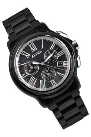 Часы Alfex. Цвет: черный
