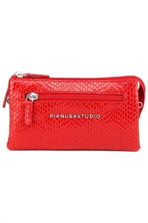 Клатч Pianurastudio. Цвет: красный