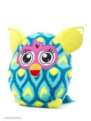Плюшевая подушка, 30 см Furby. Цвет: лазурный, желтый