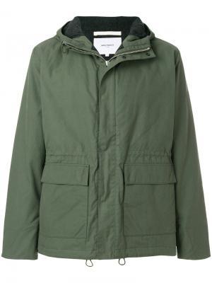Классическая куртка Nunk Norse Projects. Цвет: зелёный