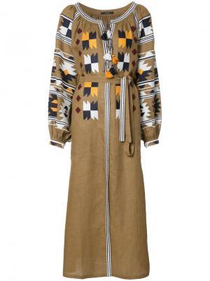 Платье с Ацтекским орнаментом Vita Kin. Цвет: коричневый