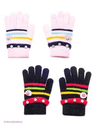Перчатки, 2 пары FOMAS. Цвет: черный, розовый