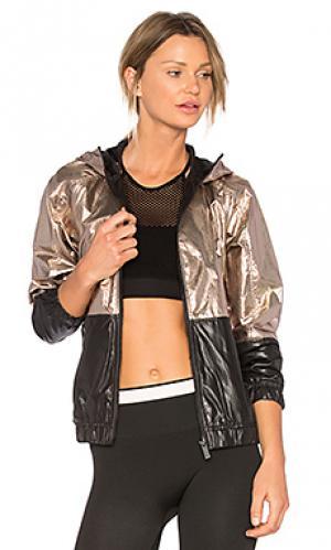 Куртка с металликом ALALA. Цвет: металлический золотой