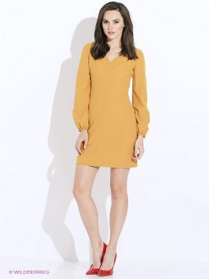 Платье Befree. Цвет: горчичный